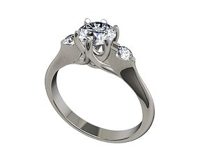 Engagement ring Solitaire Trilogy Ring