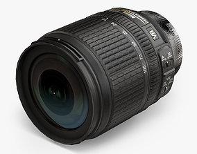 Nikon AF-S DX Nikkor 18-105mm f 3-5 5-6G ED VR 3D asset