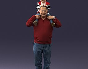 Grandfather with boy 1023 3D Print Ready