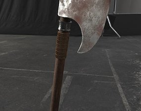 old axe 3D model game-ready
