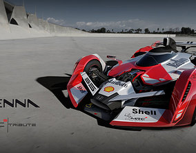 F1 concept senna tribute 3D asset game-ready