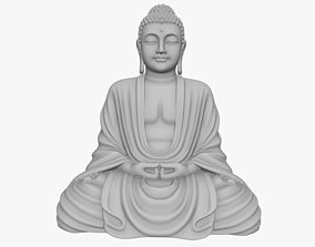 peace Buddha Statuette for 3d printing