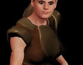 3D model rigged Warrior Girl