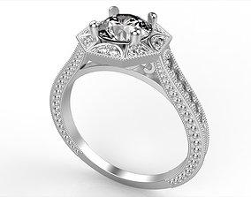 Vintage Inspired Engagement Ring 3D printable model