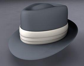 Frank Sinatra Fedora Hat 3D