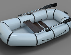 Inflatable Row Boat 3D model