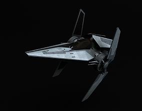 3D model Star Wars Galactic Empire V-wing starfighter