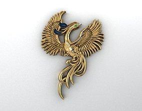 Phoenix Pendant 3D printable model pecock-pendant