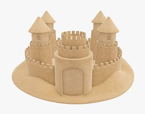 Sand castle 04 3D