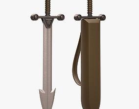 3D model realtime Barbarian Sword