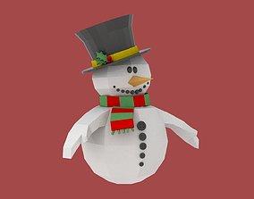 3D asset Xmas Snowman Puppet