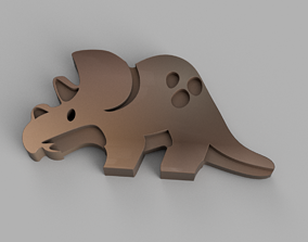 Triceratops Keychain 3D print model