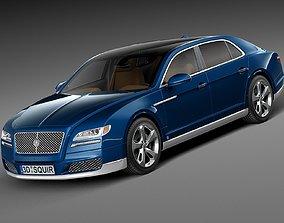 3D model american Generic Luxury Saloon 2016