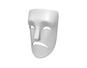 3D asset Theater Sad Mask