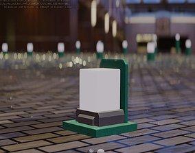 Street Light 8 Bollard 200mm Moss Green Version 2 3D asset