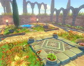 Toon Garden - Game Props 3D model