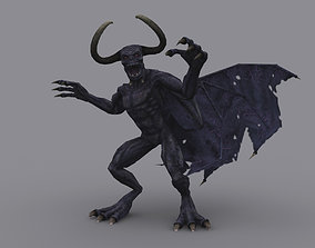 DEMON GAME READY ANIMATED MODEL 3D asset