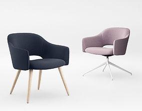 Johanson Ester armchair rounded 3D