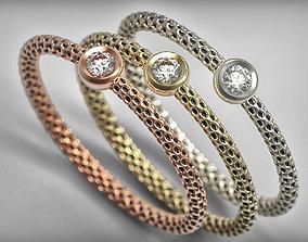 Unique minimalist diamond ring 3d print model gold