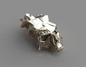3d Printable Skull mask Pendant 3D print model