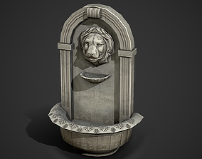 3D model Wall Fountain Low Poly Mobile Ready