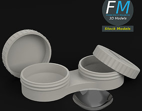 Contact lenses with case 3D