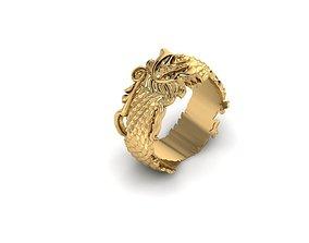 sculpt Dragon Ring 3D print model