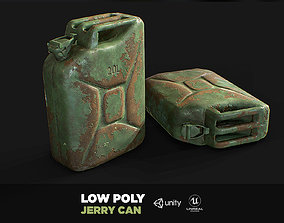 3D asset realtime Steel Jerry Can Olive Green 20 Ltr