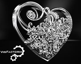 3D print model Elven Heart Pendant