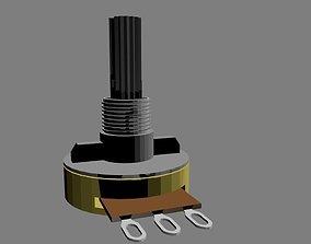 Potentiometer 1 modulation 3D model