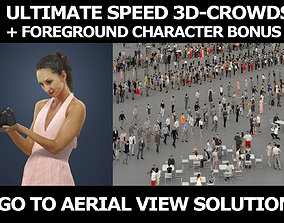 3d crowds and Mirage Foreground Summer Woman