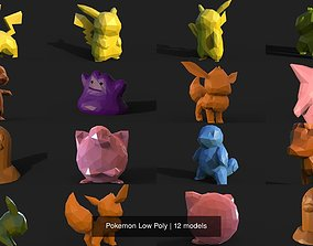 3D model Pokemon Low Poly