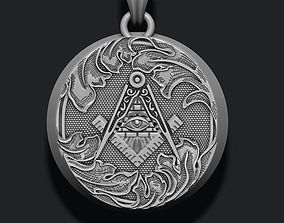 3D printable model Freemason pendant