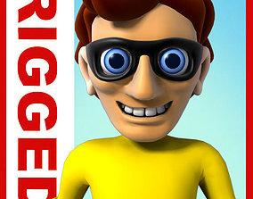 Thief cartoon rigged 3D asset