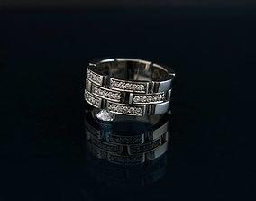 couple wedding rings 3D print model