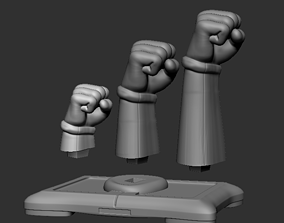 3D print model Wii Fist - 3 sizes interchangeable