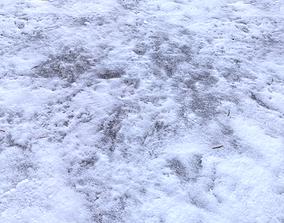 Snow terrain PBR pack 4 3D model