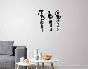 African Women wall art 2 3D printable model