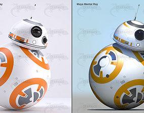 BB-8 Star Wars Droid Rigged 3D asset