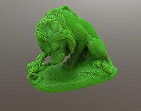 3D print model Lion Crushing a Serpent
