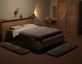 3D model Modern Bedroom bed