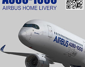 Airbus A350-1000 XWB Home livery 3D asset