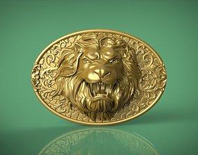 Lion Belt Buckle 3D print model