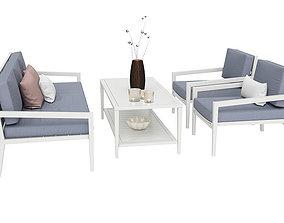 3D model Biarritz Outdoor Garden Furnitures Set