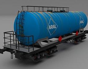 3D Aral rusty train tanker car