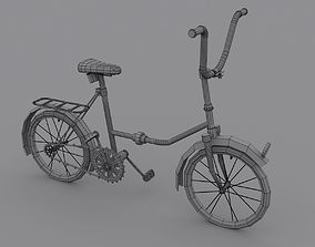 toony bicycle 3D asset