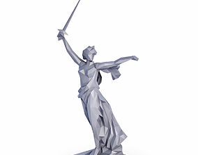 The Motherland Calls Low Poly 3D asset