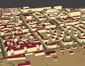 3D model Village low poly