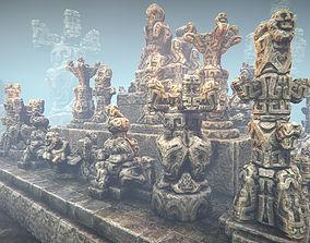 3D asset Jungle sculptures