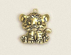 3D printable model Tiger cub